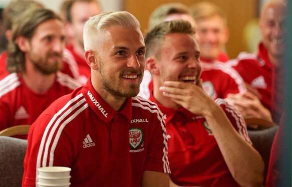 Wales Squad Hold Weekly WhatsApp Appreciation Day For One Player ramsey hair