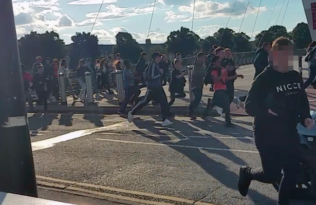 Footage Shows Moment Terrified Wales Fans Run From Man With Gun wales fear 2