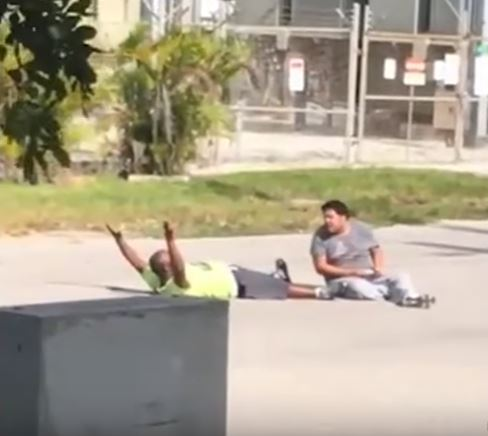 Video Shows Moment Before Police Shoot Unarmed Man With Hands Up Capture 9