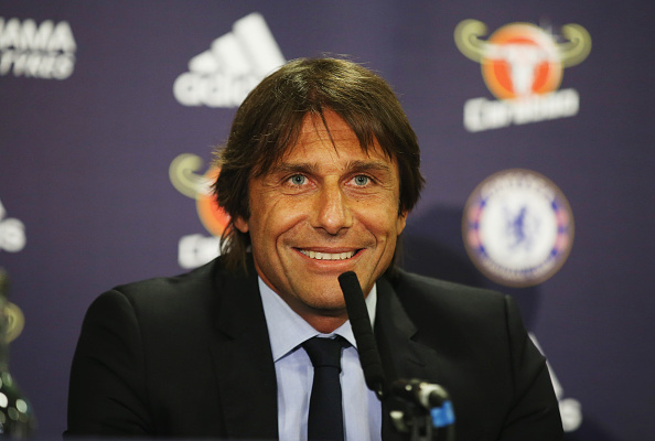 Chelsea And Arsenal Offer Defender Astronomical Wages In Transfer Battle Conte Getty CFC presser 1