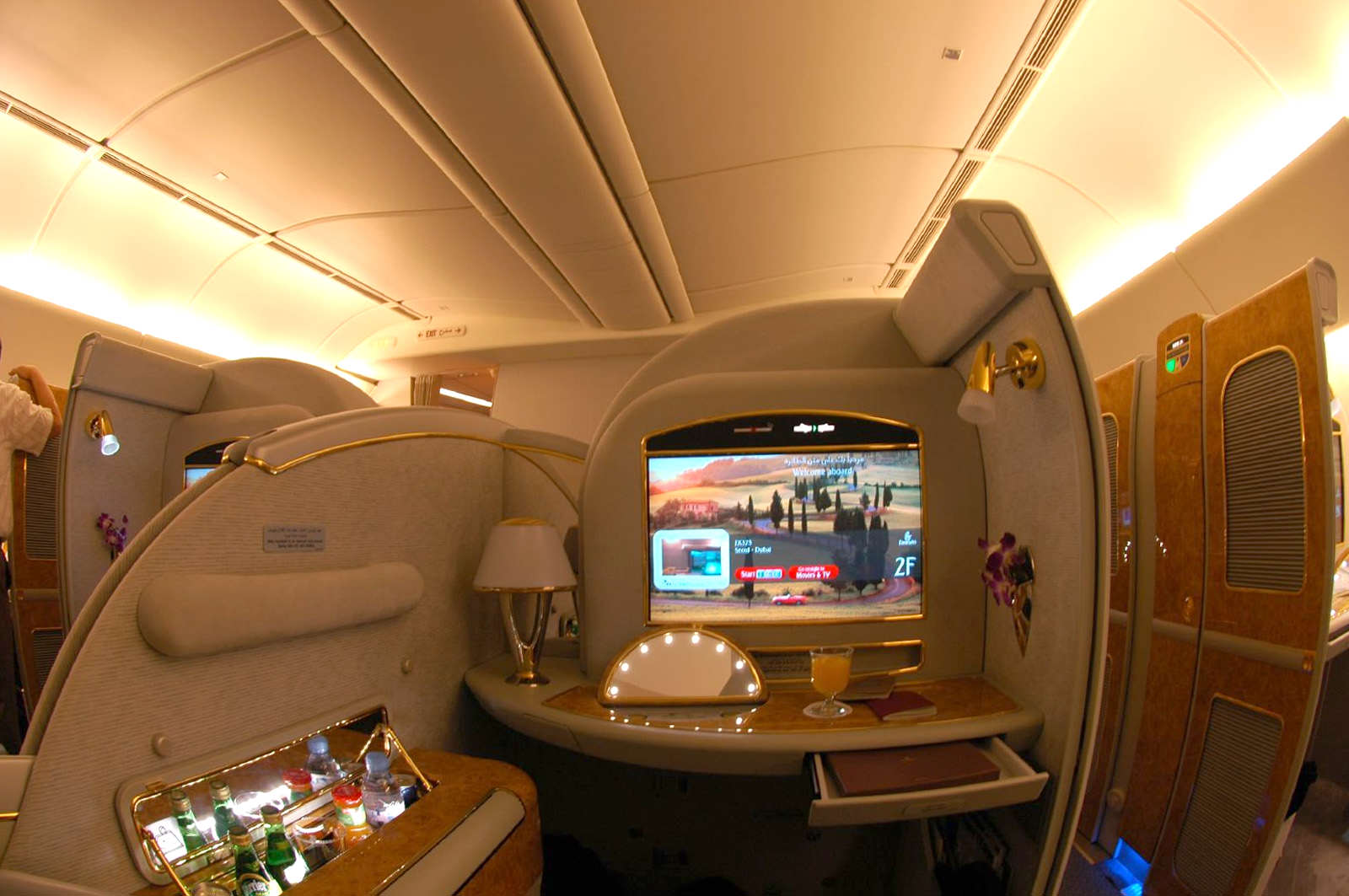 This Is How To Fly First Class For Free On Your Next Flight Emirates Boeing 777 200LR First Class Suite