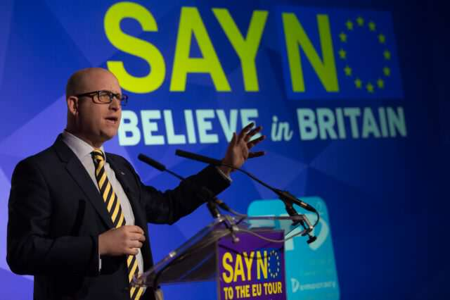 'Say NO, Believe In Britain' Event In Cornwall