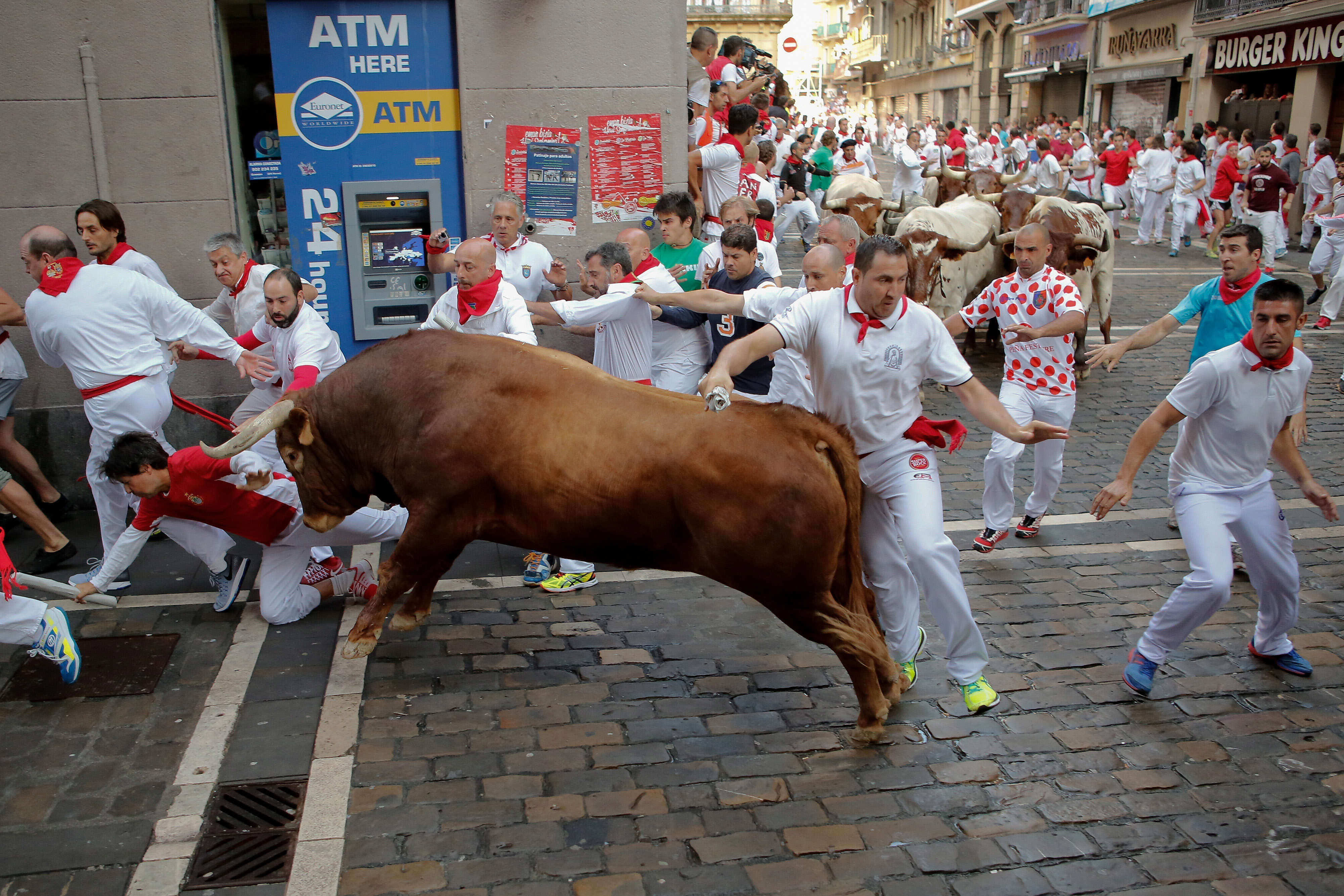 Video Shows Brutal Reality Of Bull Running, As Spain Sees Third Goring Death GettyImages 545480574