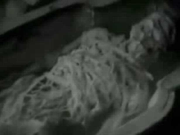 Leaked Video Shows Russian KGB Agents Probing Alien Remains KGB discovering mummified alien in Egypt