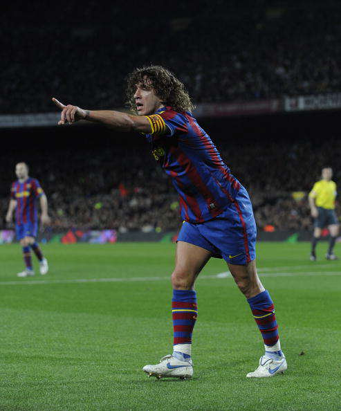 Barcelona Legend Puyol Shows Off His Skills With Insane Goal Puyol Getty