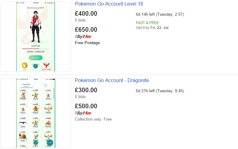 People Are Selling Their Pokemon GO Accounts For Ridiculous Money Untitled 1 3