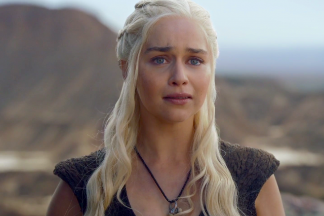 Game Of Thrones May Be Around Longer Than Everyone Thought daenerys targaryen crying game of thrones 640x426