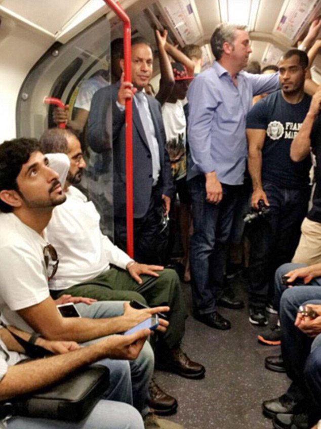Ruler Of Dubai Took Son On The Tube And People Loved It dubai11