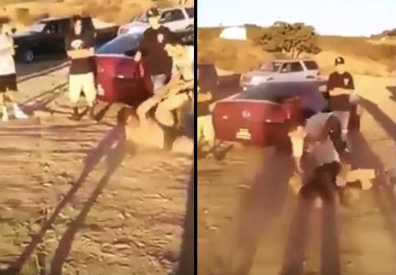 Guy Gets Brutal Street Justice On His Sisters Abusive Boyfriend fight 2