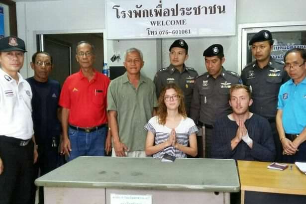Couple Caught Performing Public Sex Act Face Further Embarrassment foreign couple having sex in public in Thailand
