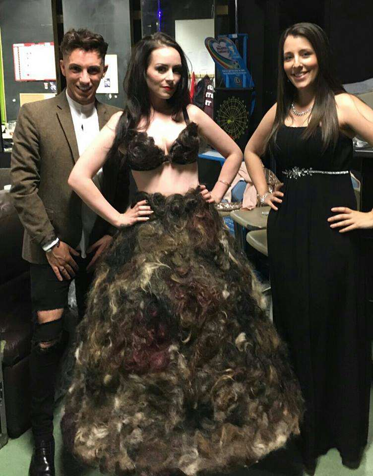 Woman Makes Most Disgusting Dress Ever From Pubic Hair hair22