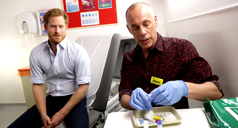 Prince Harry Just Got His HIV Results On Facebook Live harryy