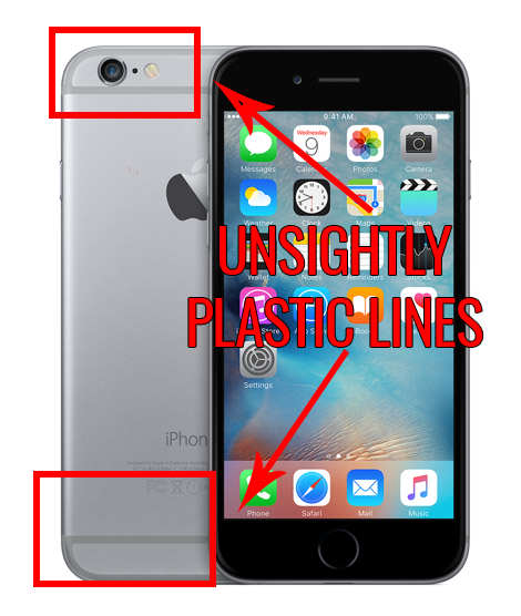 Heres What The Weird Lines On The Back Of An iPhone Are iphone antenna