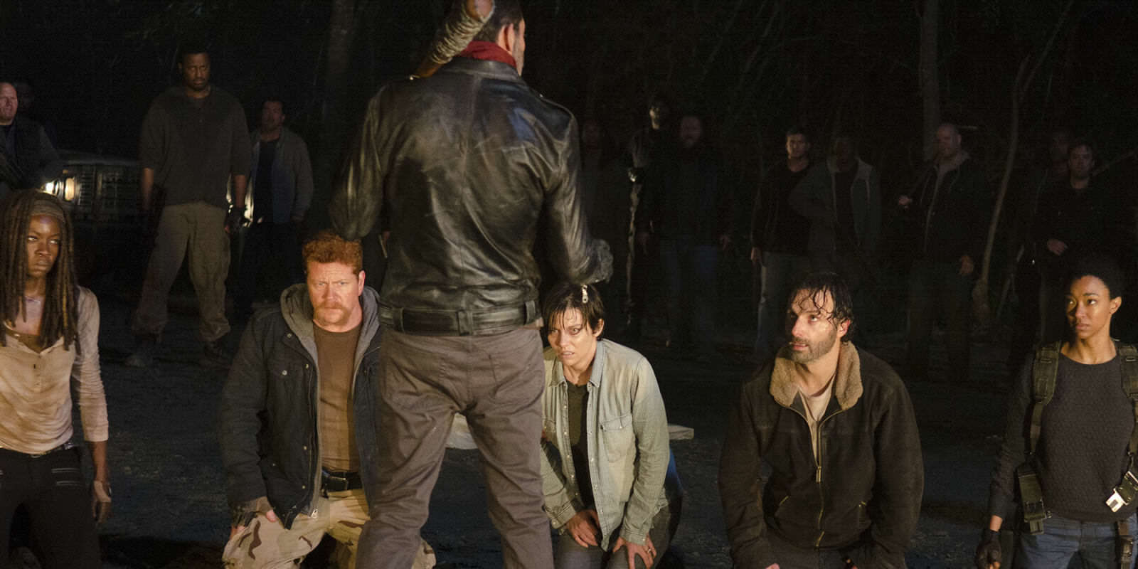 New Walking Dead Trailer Reveals Major Clue To Who Dies landscape 1459858342 negan line up the walking dead
