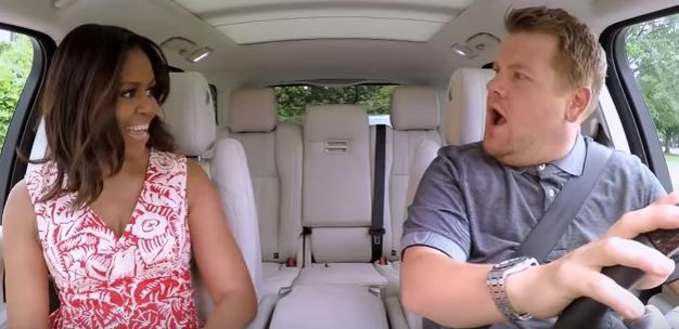 Michelle Obama Takes A Spin With James Corden In Carpool Karaoke michelle obama
