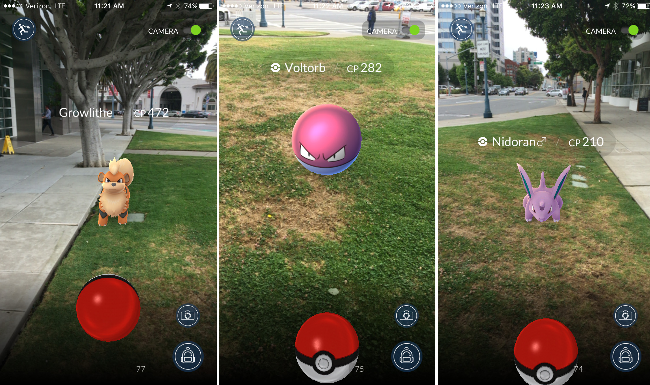 Watch The Moment A Pokemon GO Player Drives Into Cop Car pokemon go nick statt screenshots 1.0 1