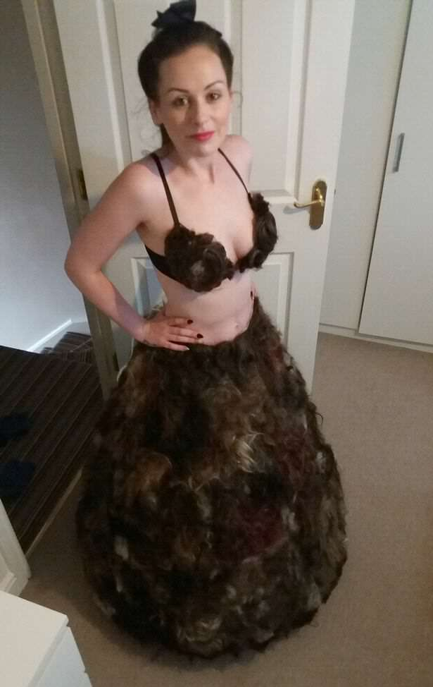 Woman Makes Most Disgusting Dress Ever From Pubic Hair pube dress sarah louise bryant 02 fb
