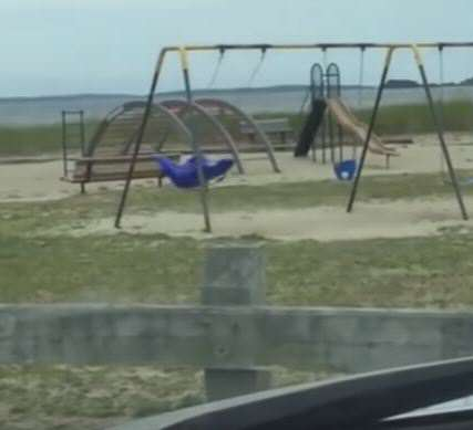 Dad Films Sinister Video Of Ghost Playing On Swing swing 1