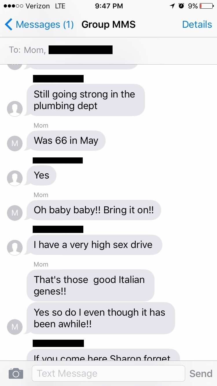 Girl Gets Accidentally Added To Mums Sext Chat And Its So, So Awkward text5