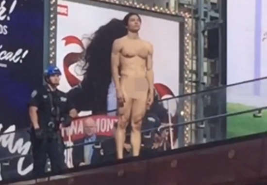 Naked Times Square Donald Trump Protester Is Actually Famous Model trump1
