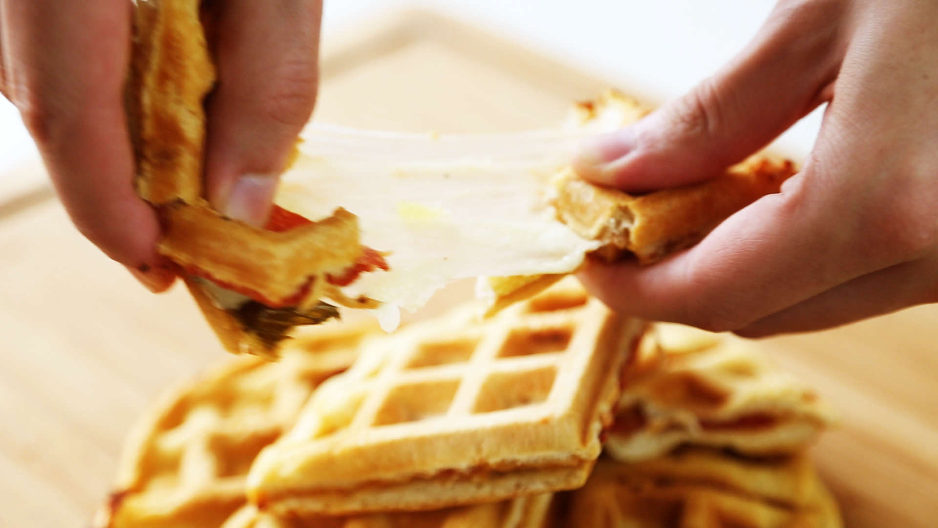 Heres How You Make Pepperoni Pizza Waffles waffle pic 2