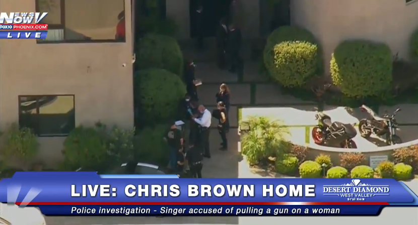 Chris Browns Tense Police Standoff Comes To An End 1 3