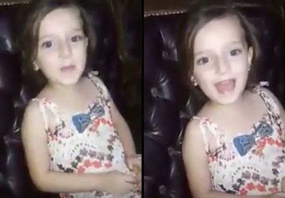 Syrian Girl Sings To Mum Before Bomb Explodes Outside Home ALEPPO