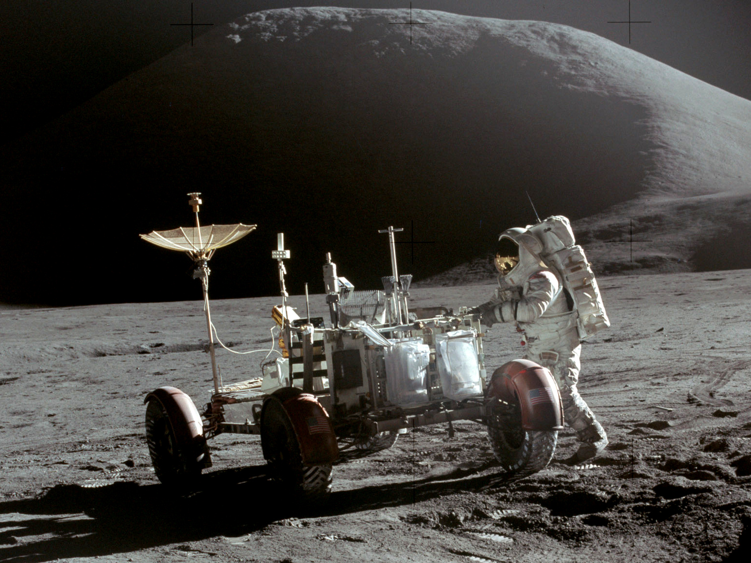 North Korea Is Planning To Invade Moon And Claim It For Themselves Apollo 15 Lunar Rover and Irwin