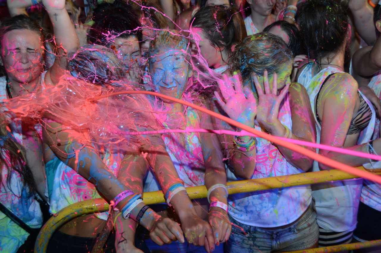 Brits Caught In X Rated Magaluf Paint Party Club Ice UV Paint Party Ayia Napa
