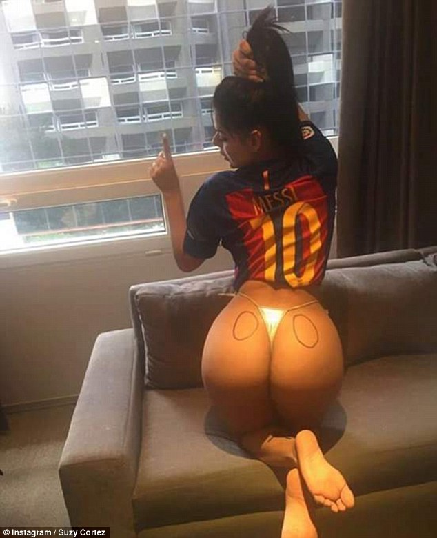 Miss Bumbum Launches Insane Campaign To Win Messis Affections Cortez Insta 3