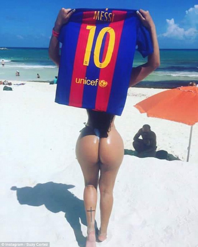Miss Bumbum Launches Insane Campaign To Win Messis Affections Cortez Insta