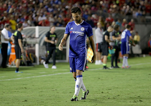 Chelsea Man Close To Exit After Season Opener? Fabregas Getty Head Down