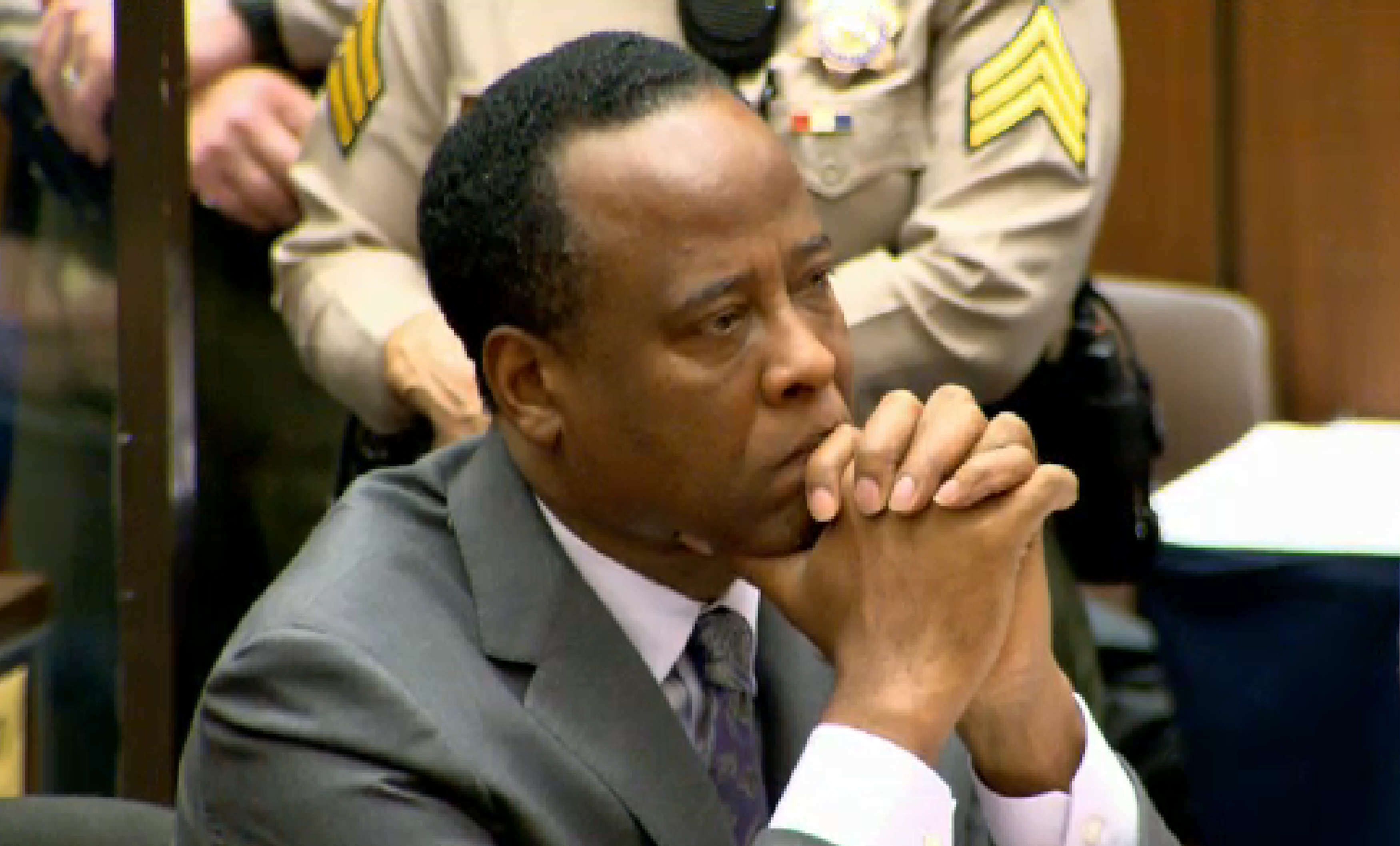 dr conrad murray being sentenced in court