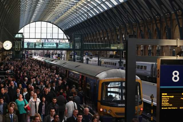 Rush Hour At King's Cross Train Station