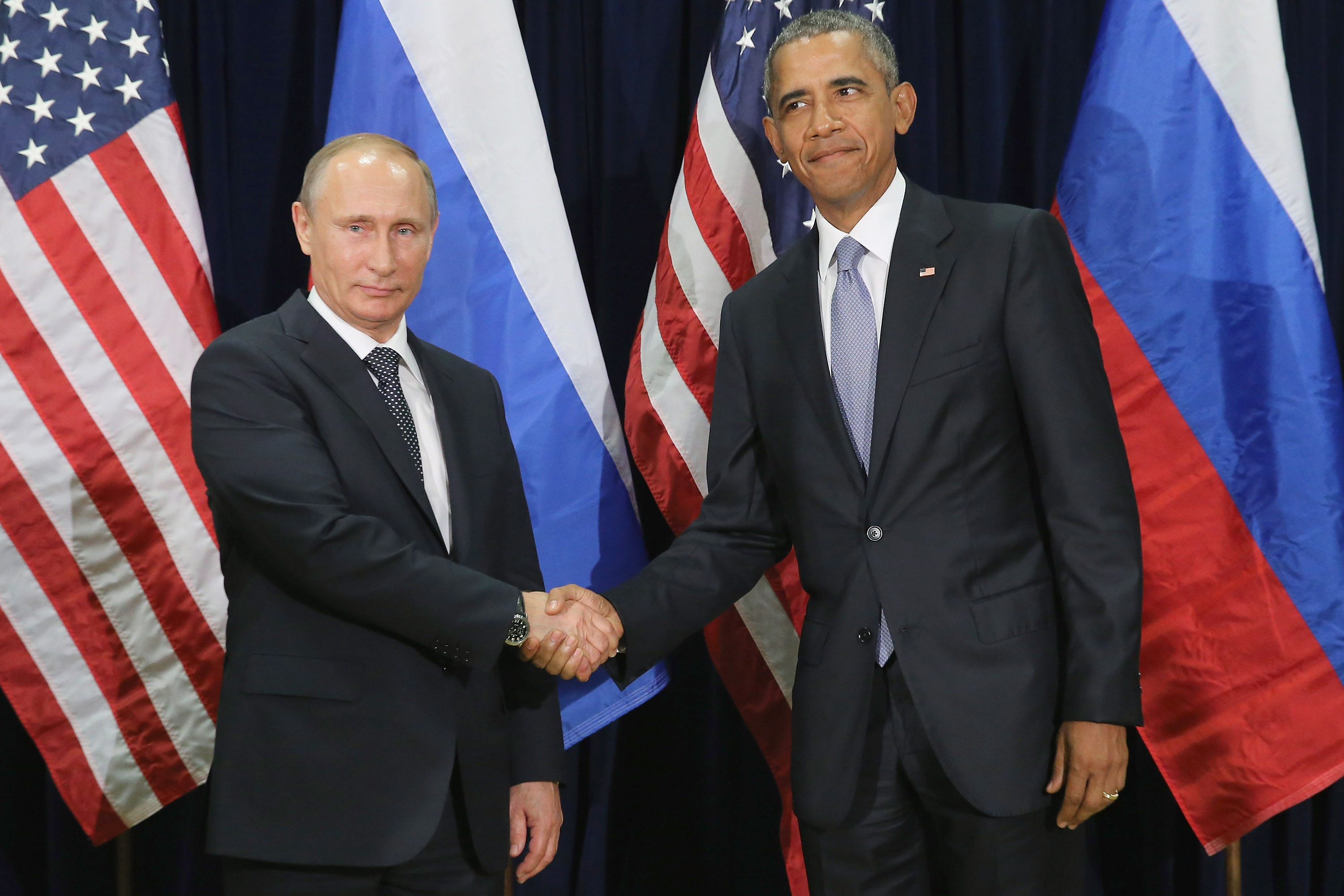 Obama Holds Bilateral Meeting With Russian President Putin At UN