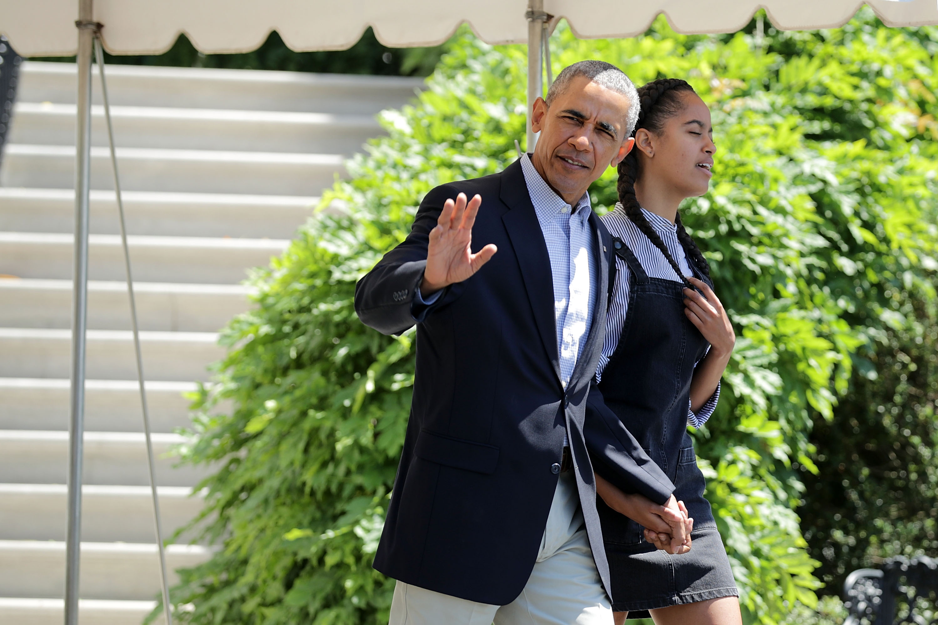 Heres How Obama Punished His Daughter For Smoking Weed GettyImages 540919868