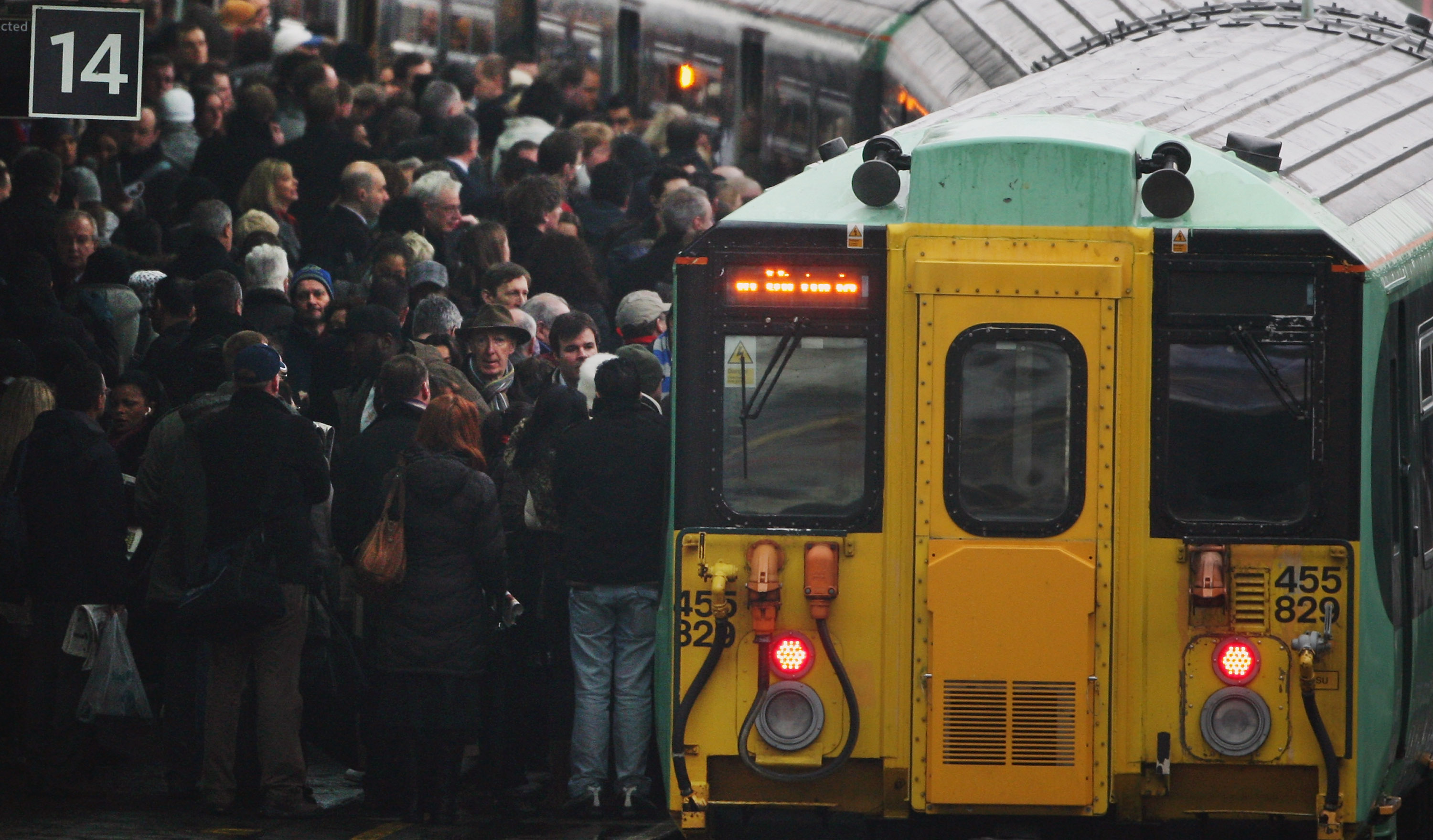 Commuter Trains Are Carrying 40 Per Cent Above Their Passeneger Capacity
