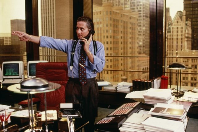 Top Ten Psychopaths In Cinema According To An Expert Gordon Gekko in his Wall Street Office 640x426