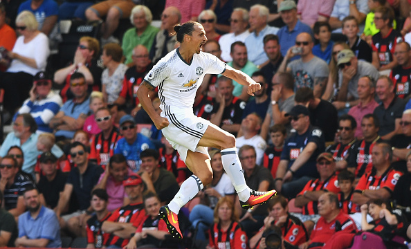 Zlatan Makes Incredible Gesture For Uniteds Young Stars Ibra Getty Celebration Bournemouth 3