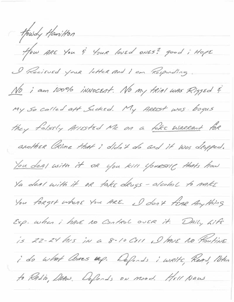 This Harrowingly Depressing Letter Reveals The Reality Of Death Row Jeff Wood Letter 1