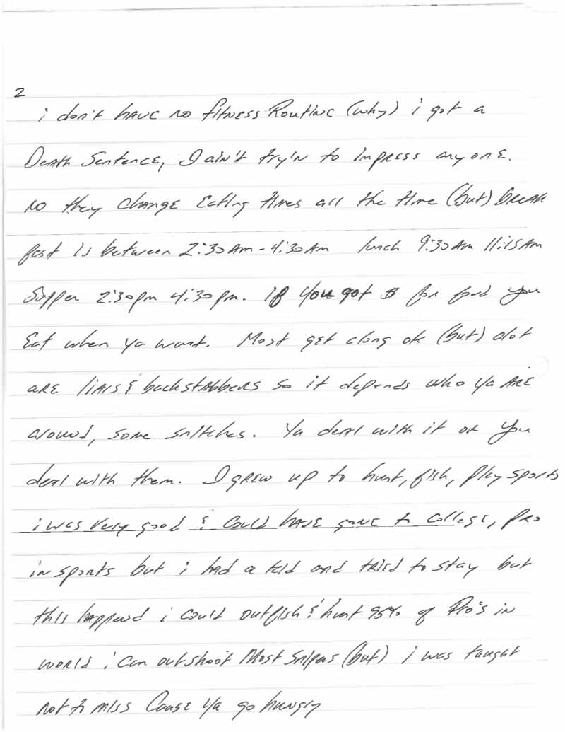 This Harrowingly Depressing Letter Reveals The Reality Of Death Row Jeff Wood Letter 2