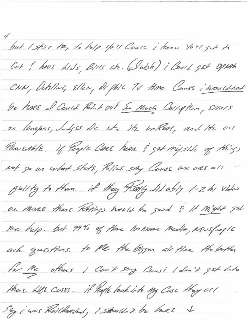 This Harrowingly Depressing Letter Reveals The Reality Of Death Row Jeff Wood Letter 4