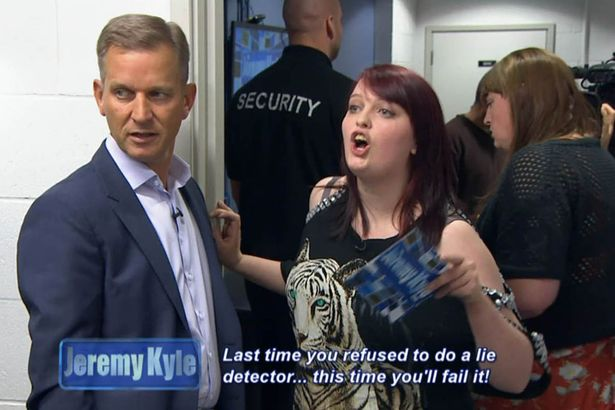Jeremy Kyle Guest Dragged Away By Security After Getting Violent Last time you refused to do a lie detector this time youll fail it 3 1