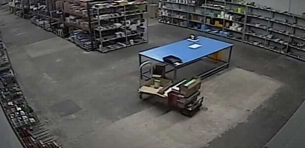 Startling Video Shows Poltergeist Pushing Warehouse Trolley Loading trolley is possessed