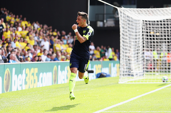 Mesut Ozil Confirms Role As King Of Assists With Ultimate Gesture Ozil Getty vs Watford