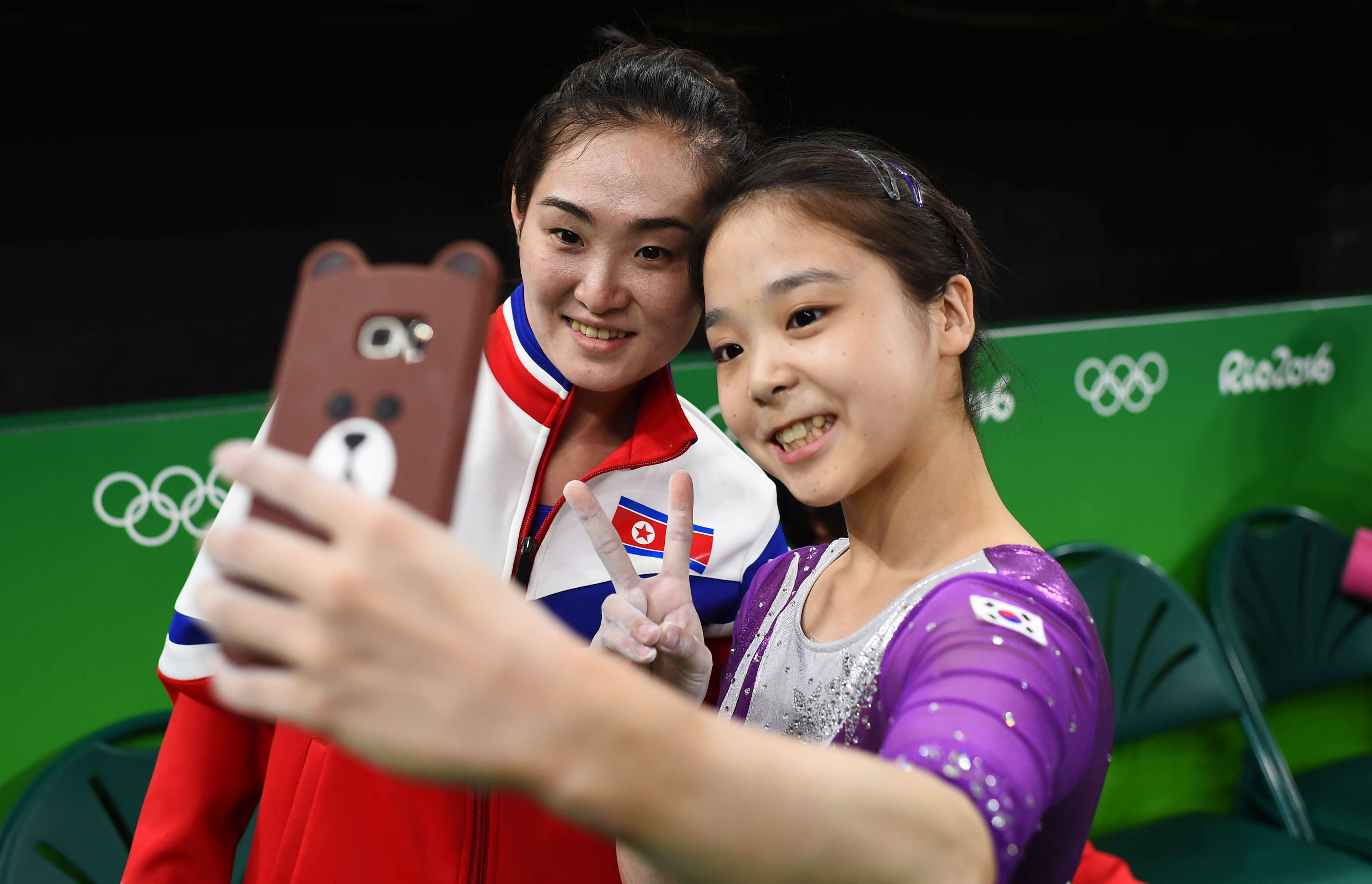 Olympics Brings North And South Korean Athletes Together For Iconic Selfie RTSL12Q