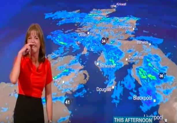 Weather Reporter Loses It In Fit Of Giggles During Live Broadcast Screen Shot 2016 08 04 at 11.28.07