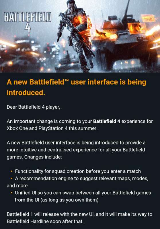Battlefield 4 And Hardline Getting Big Changes This Summer bf4 email