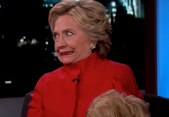Hillary Clinton Tries Reading Awkward Donald Trump Quotes With Straight Face clinton1