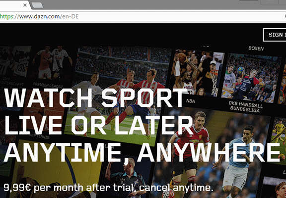'Netflix For Sport' Broadcaster To Change The Game For Football Fans